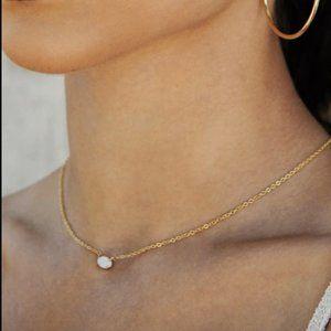 Ettika Kyocera Opal 18kt Gold Plated Necklace